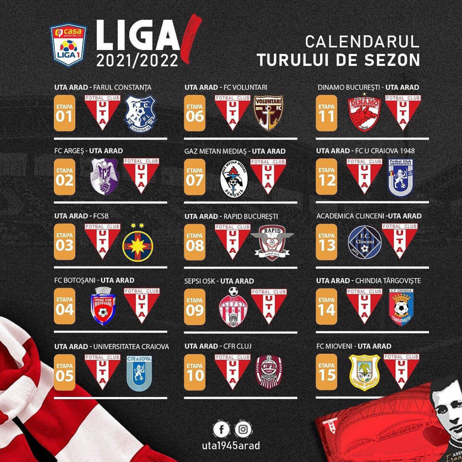 Imagine UTA-Farul Constanța în prima etapă a noului sezon