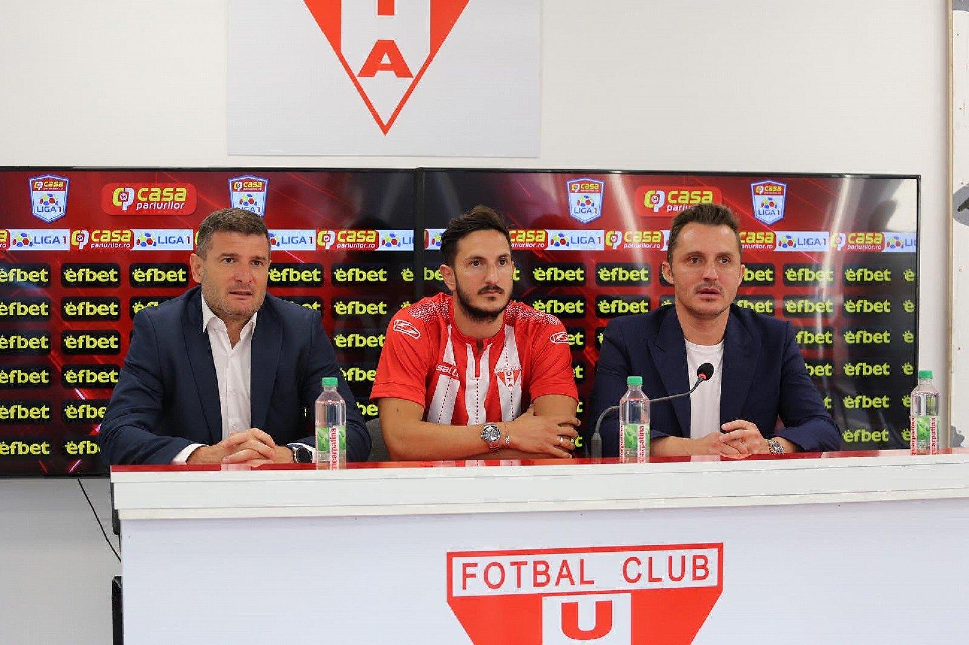 Imagine Marko Vukcevic și Tudor Călin, cele mai recente transferuri ale UTA-ei