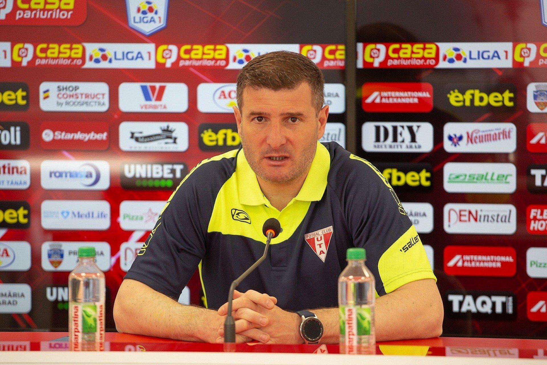Imagine Reacția lui Laszlo Balint după FC Argeș - UTA 4-1