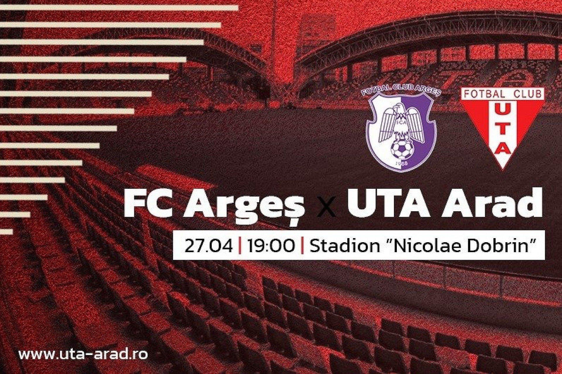 """Imagine Mâine, FC Argeș – UTA: """"Să reacționăm ca echipă"""""""