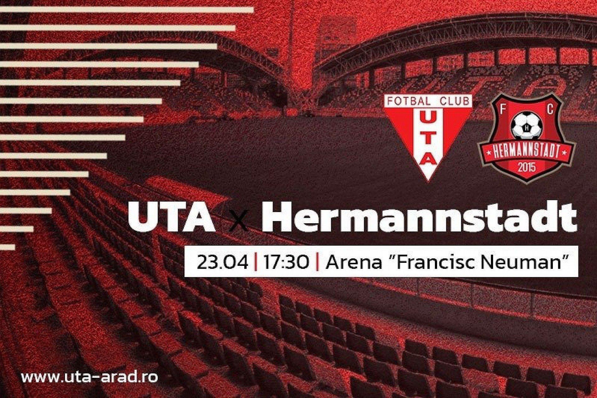 """Imagine Mâine, UTA – Hermannstadt: """"Tratăm fiecare meci ca pe o finală"""""""