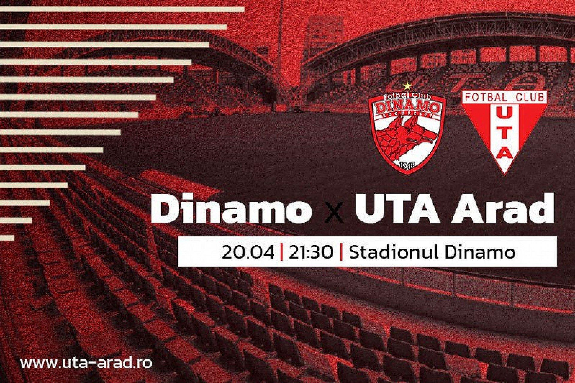"""Imagine Mâine, Dinamo – UTA. """"Meci încrâncenat, dar băieții sunt pregătiți"""""""
