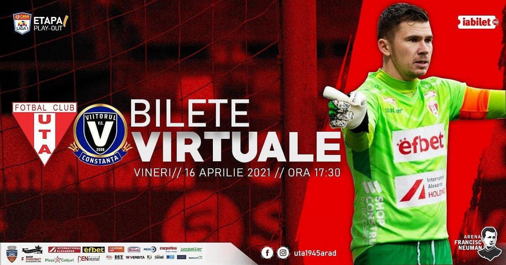 Imagine Bilete virtuale pentru meciul UTA - Viitorul Constanța!