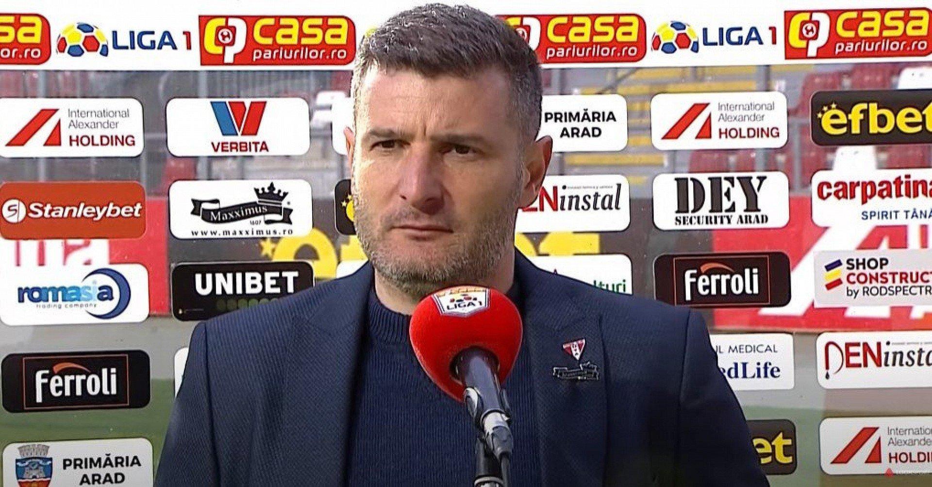Imagine VIDEO / Reacția lui Laszlo Balint după UTA - Sepsi 2-0