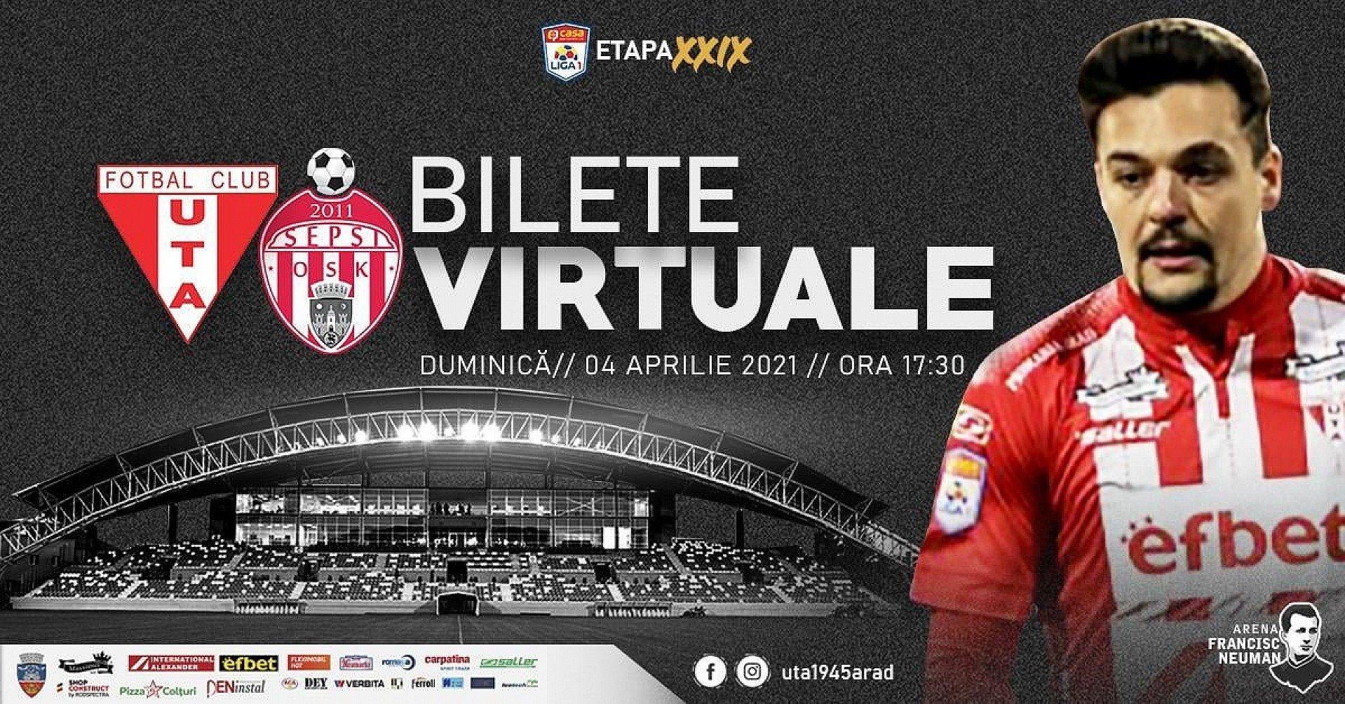 Imagine Bilete virtuale pentru meciul UTA - Sepsi!