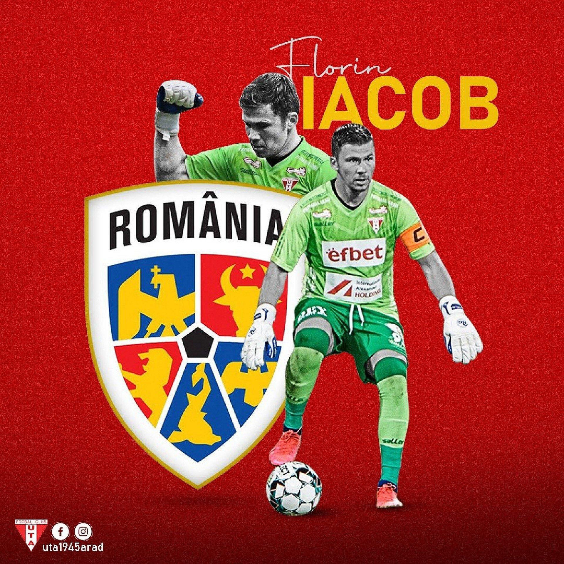 Imagine Florin Iacob e convocat în lotul lărgit al Naționalei României!
