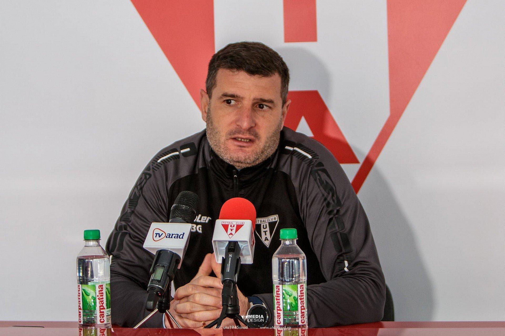 Imagine Reacția lui Laszlo Balint după U Craiova - UTA