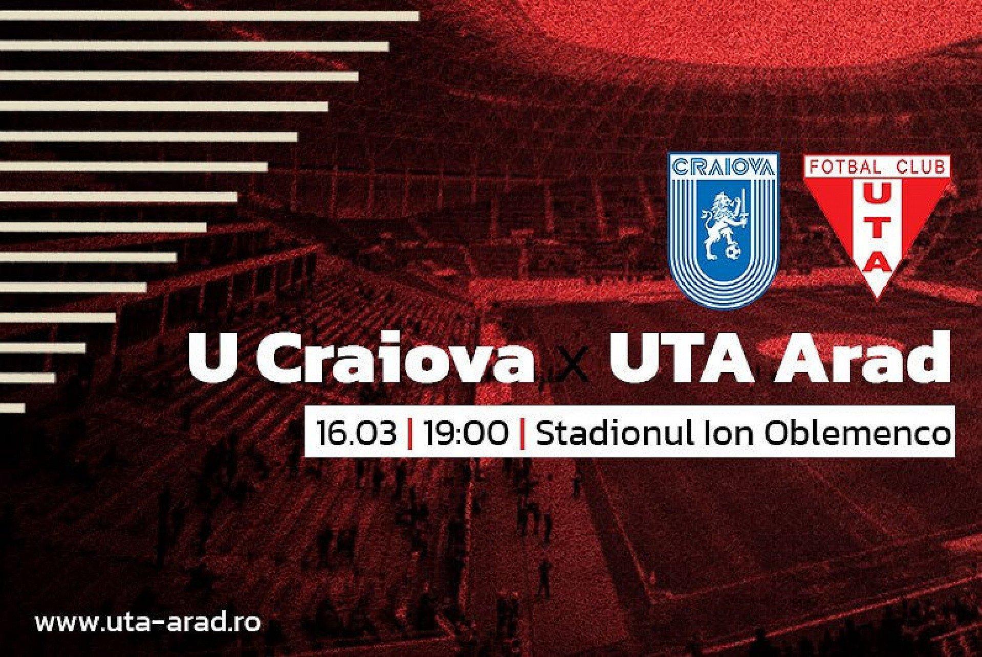 """Imagine Mâine, Universitatea Craiova – UTA: """"Sperăm la un rezultat bun"""""""