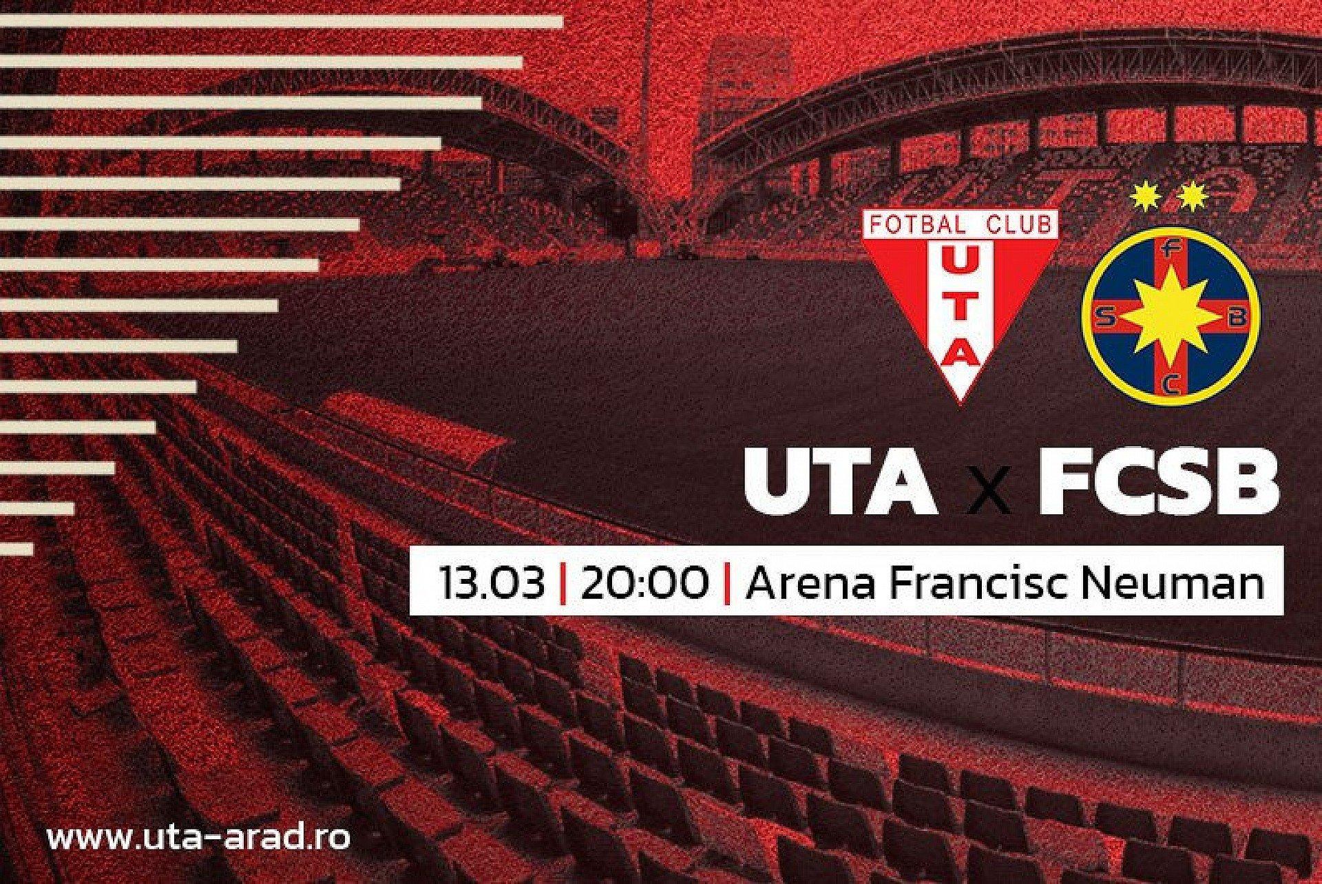 """Imagine Mâine, UTA - FCSB / """"Foame de fotbal, de rezultat, de performanță!"""""""