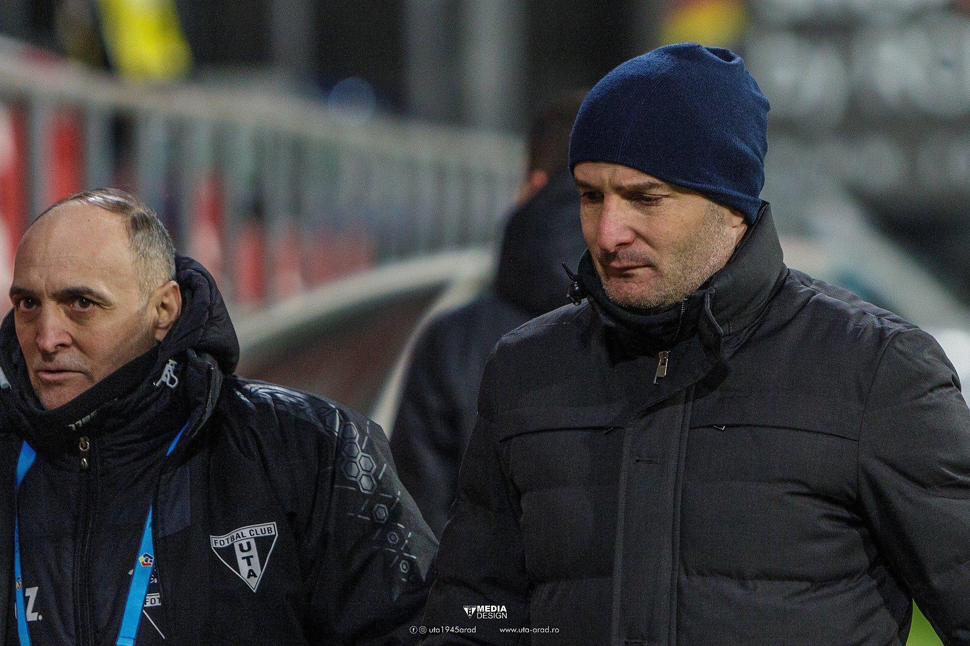 Imagine Reacția lui Laszlo Balint după UTA - CFR Cluj