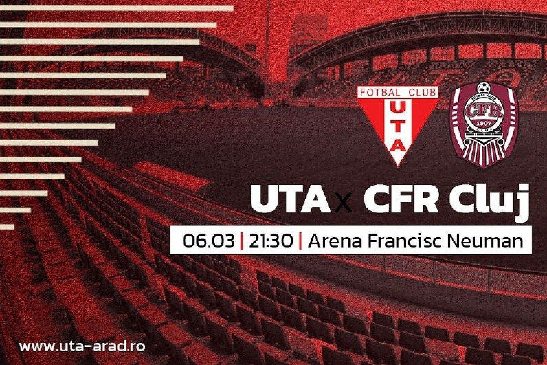 """Imagine Mâine, UTA – CFR Cluj: """"Să punem probleme şi să scoatem un rezultat bun!"""""""