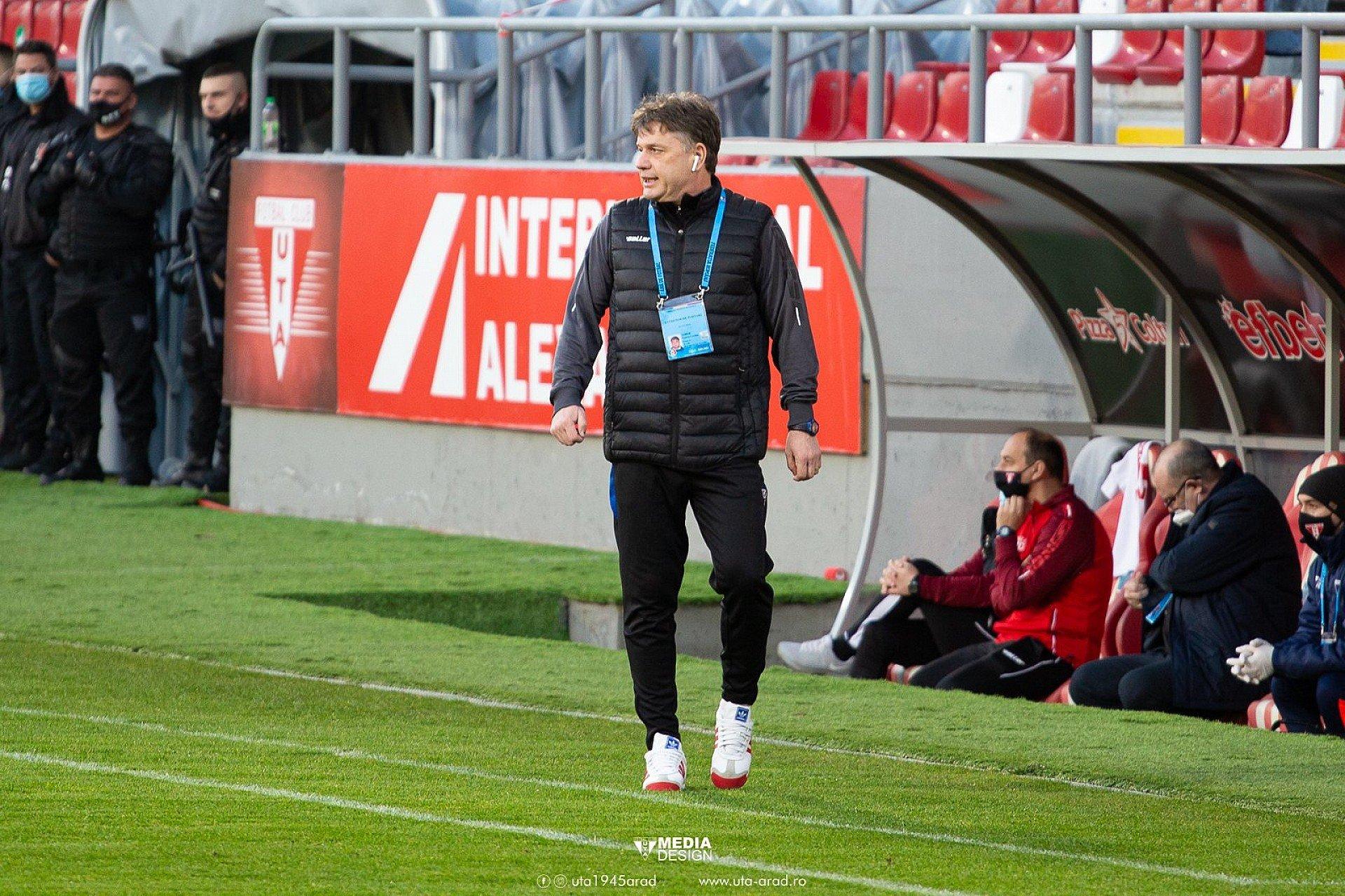 Imagine VIDEO / Reacția lui Gabi Vasiliu după UTA - FC Botoșani 0-0