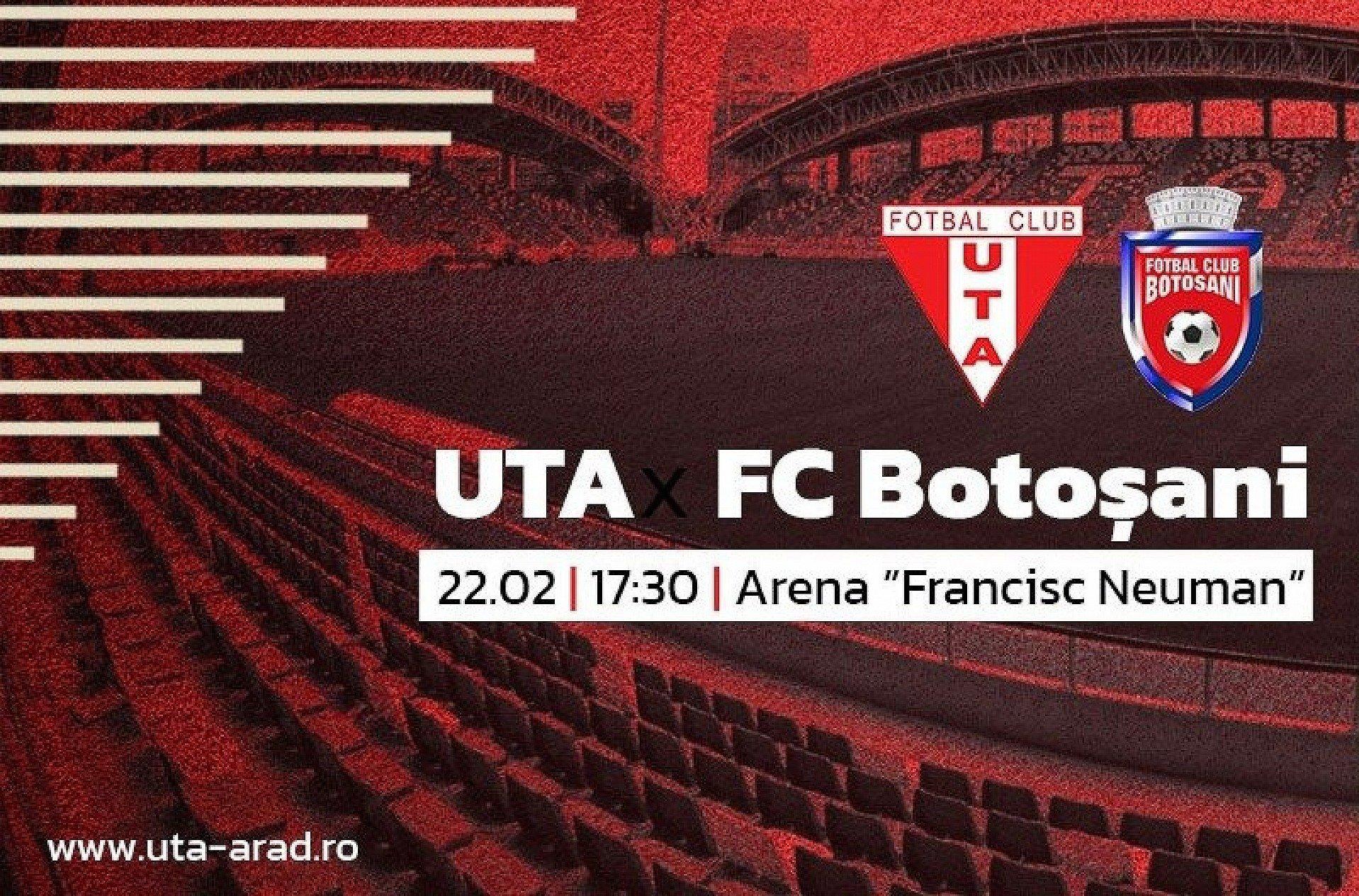 Imagine Mâine, UTA - FC Botoșani / Căutând victoria descătușării