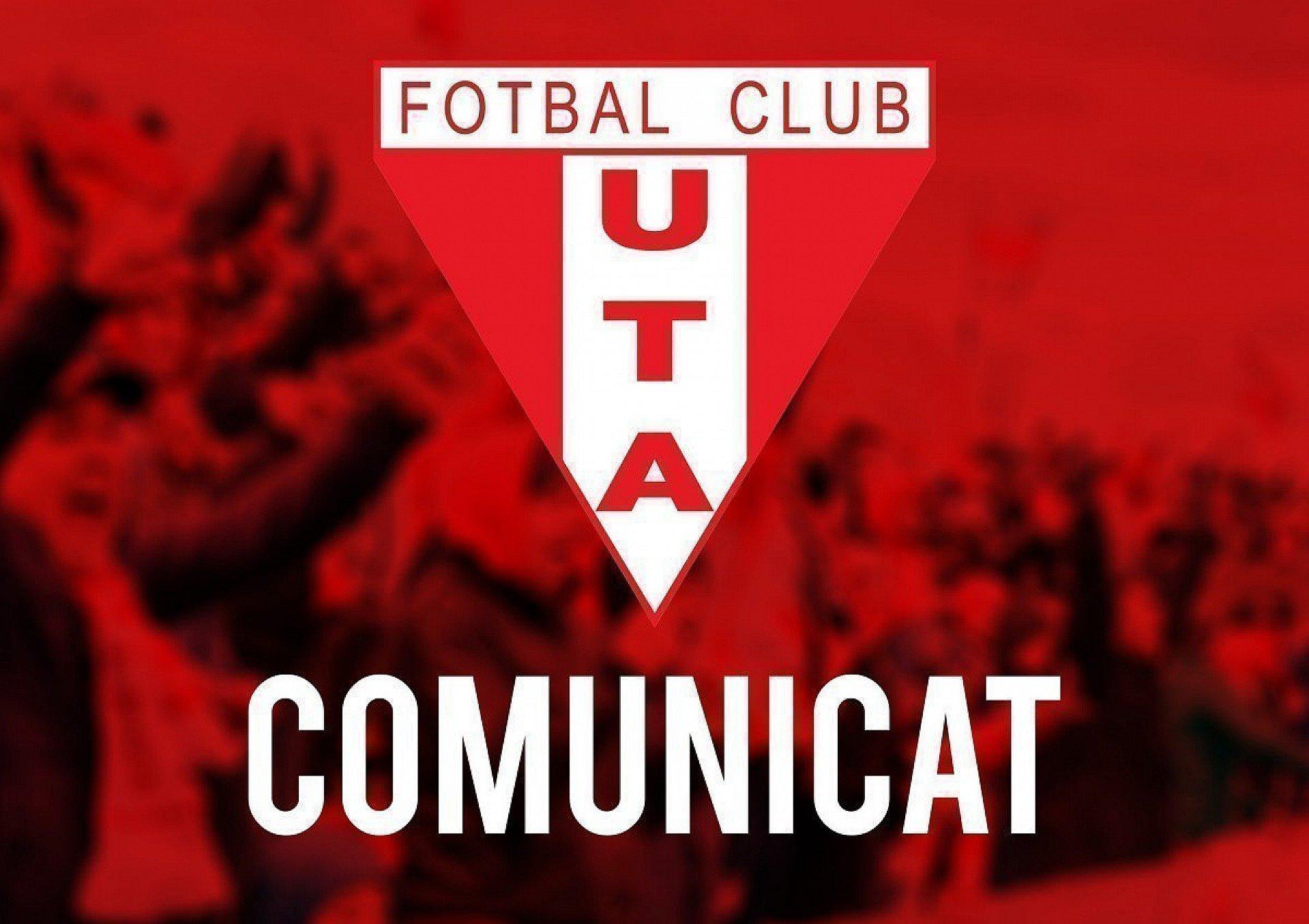 Imagine Comunicat UTA Arad 17 februarie 2021