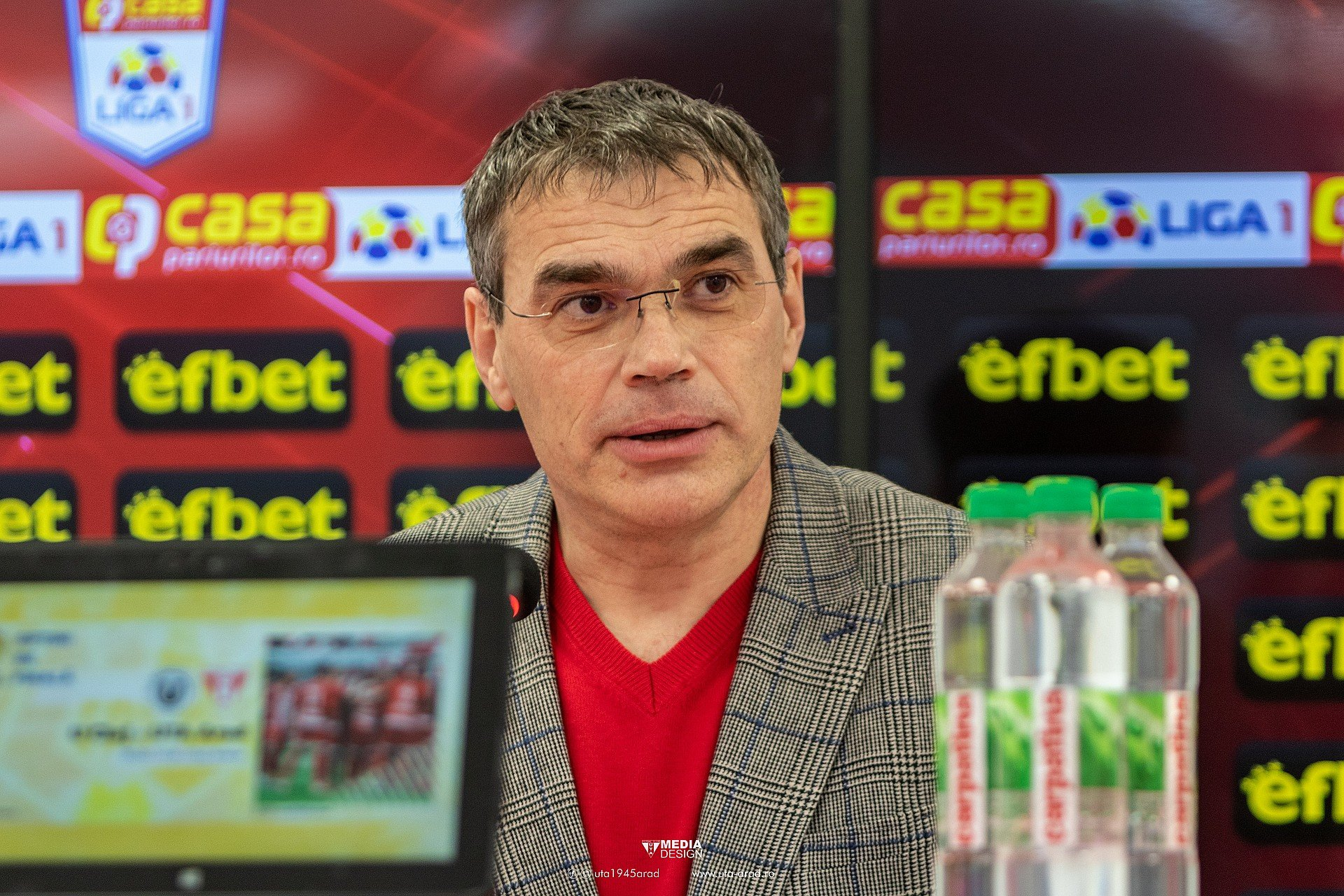 Imagine FOTO / Conferința de presă înainte de U Cluj - UTA din Cupa României