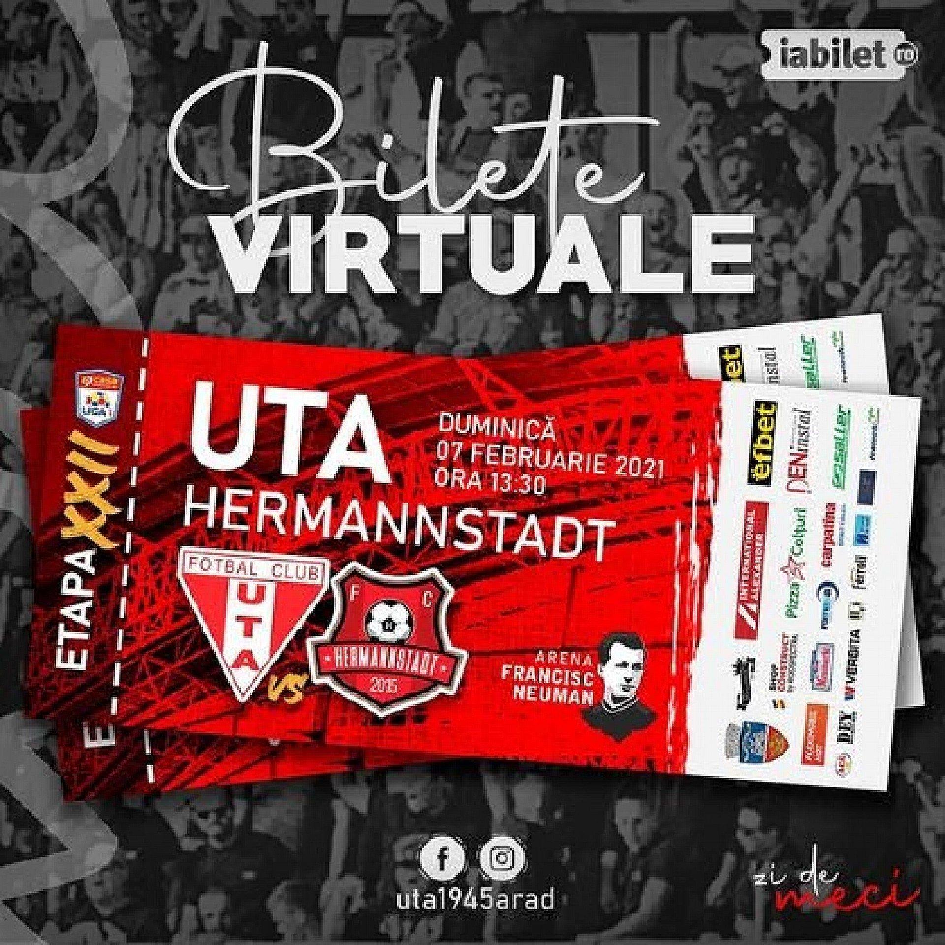 Imagine Bilete virtuale pentru meciul UTA - Hermannstadt!