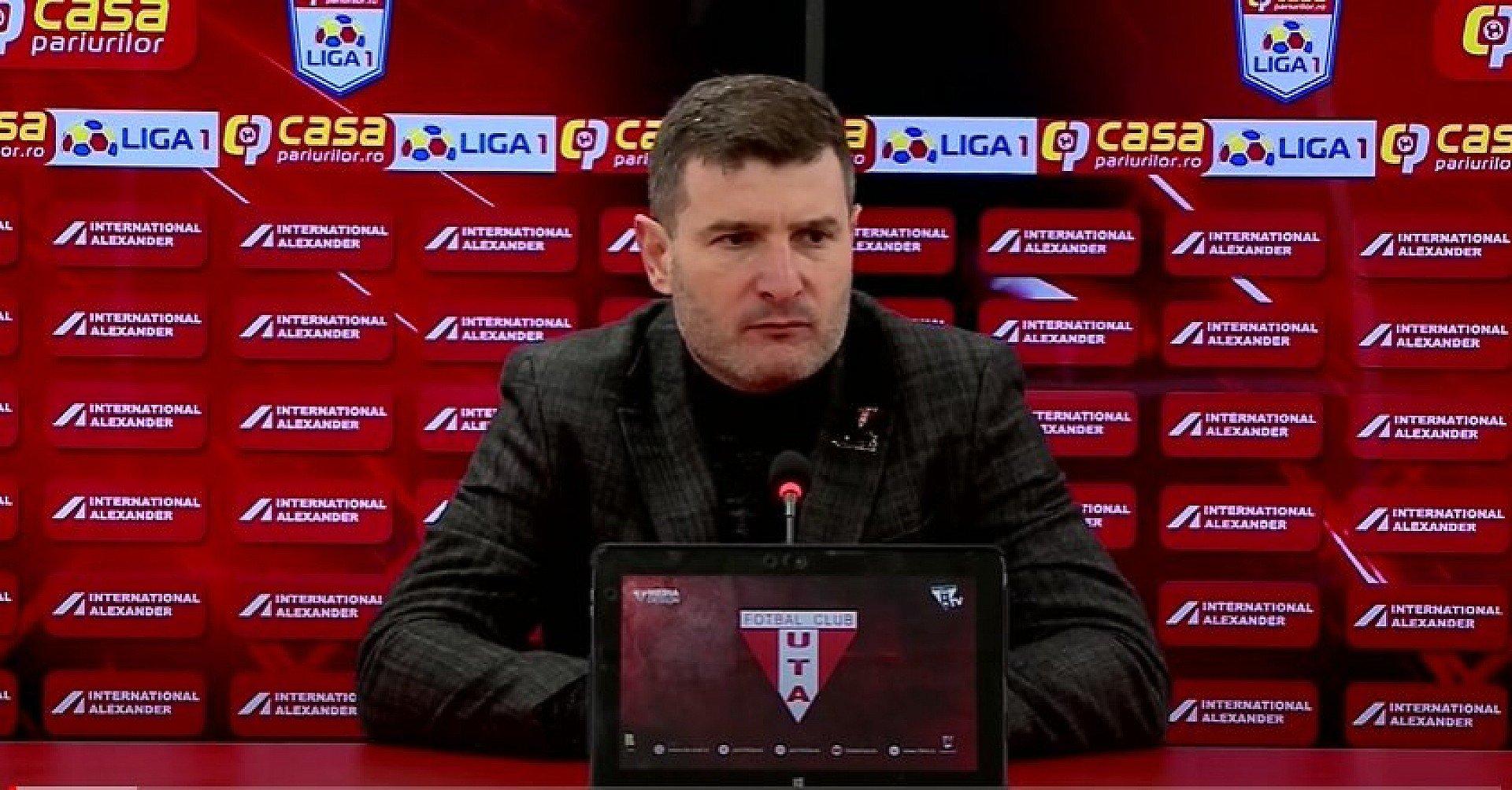 Imagine Reacția lui Laszlo Balint după UTA - Dinamo