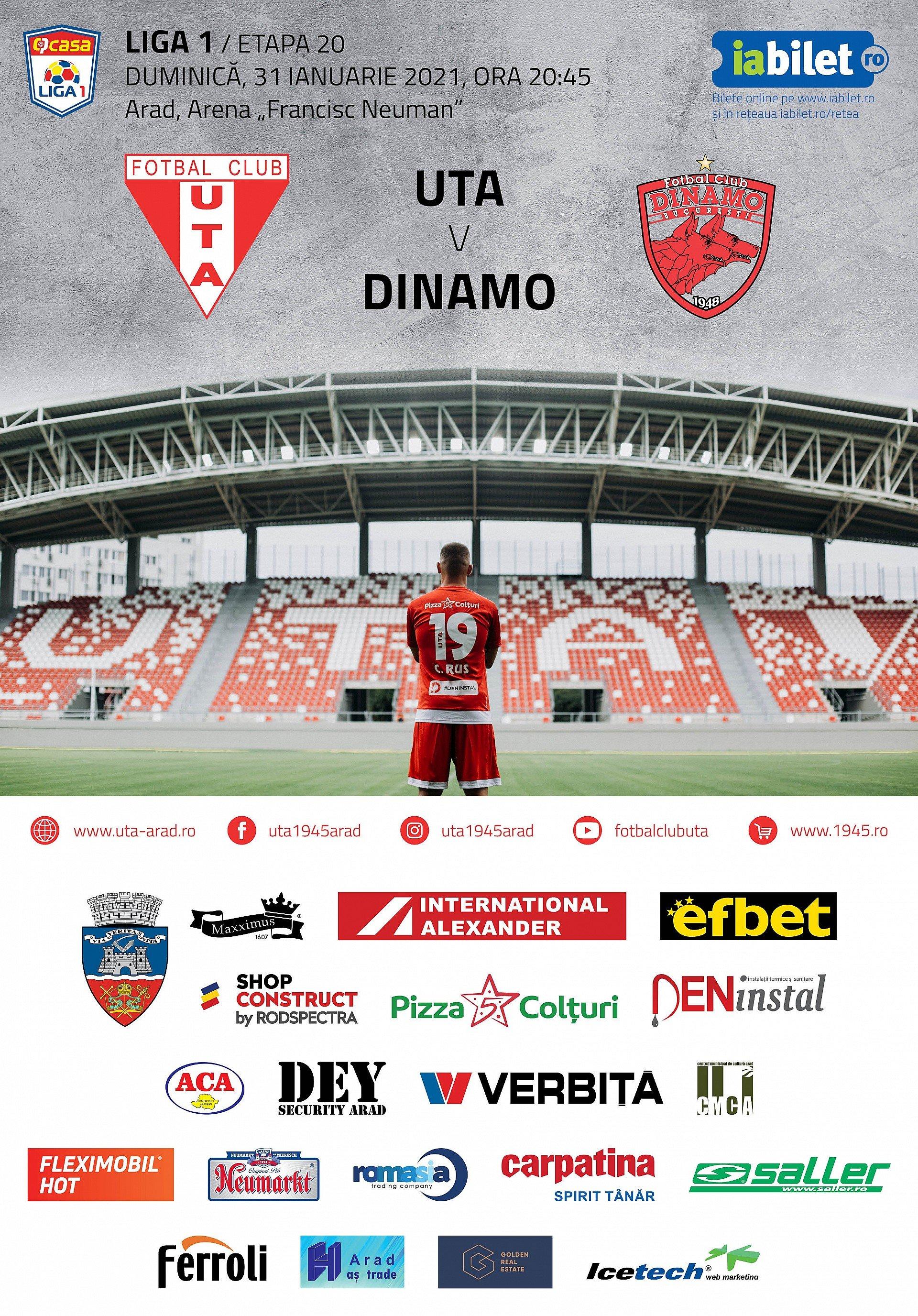 Imagine Bilete virtuale pentru meciul UTA - Dinamo!