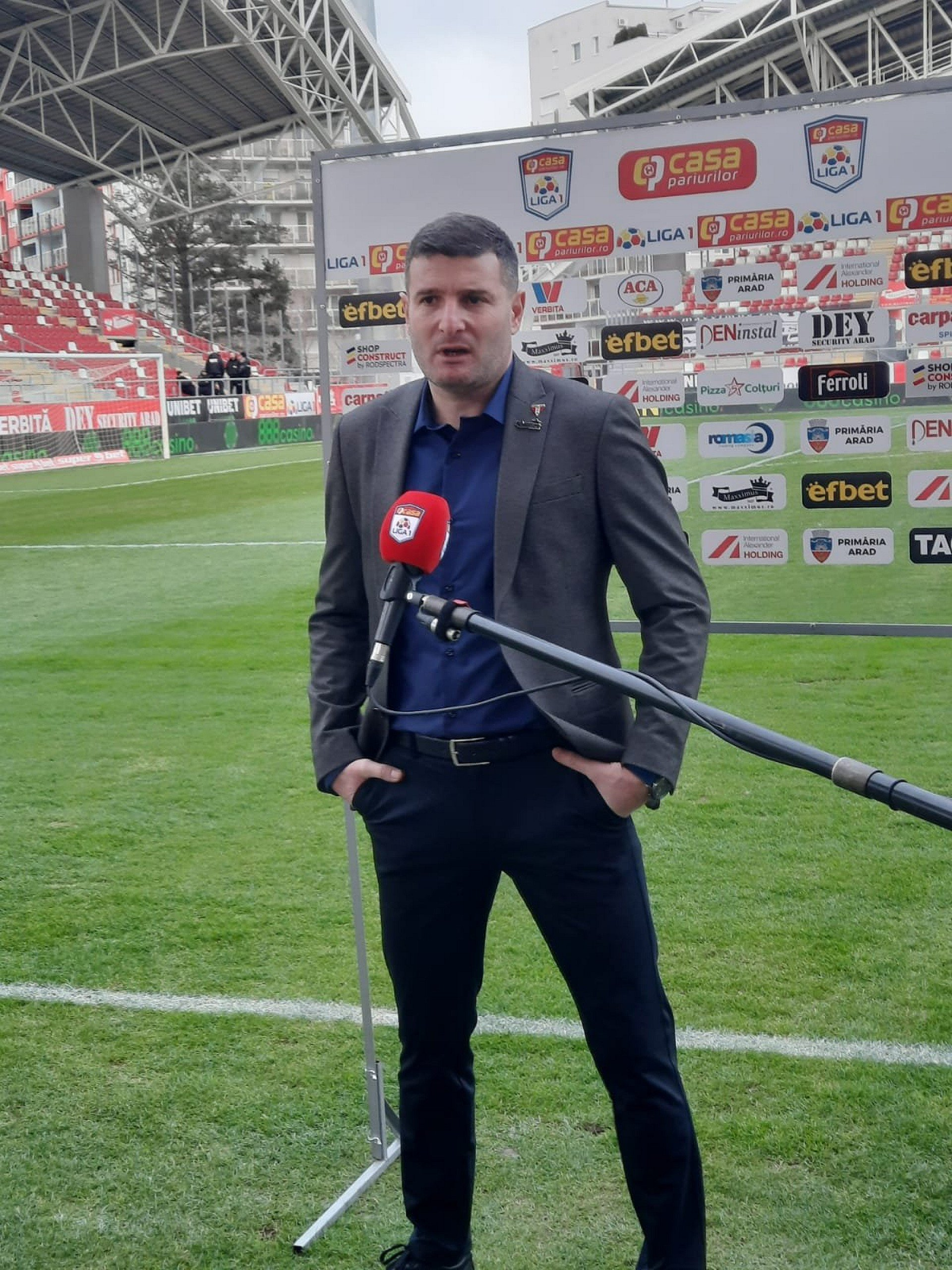 Imagine Reacția lui Laszlo Balint după UTA - FC Argeș