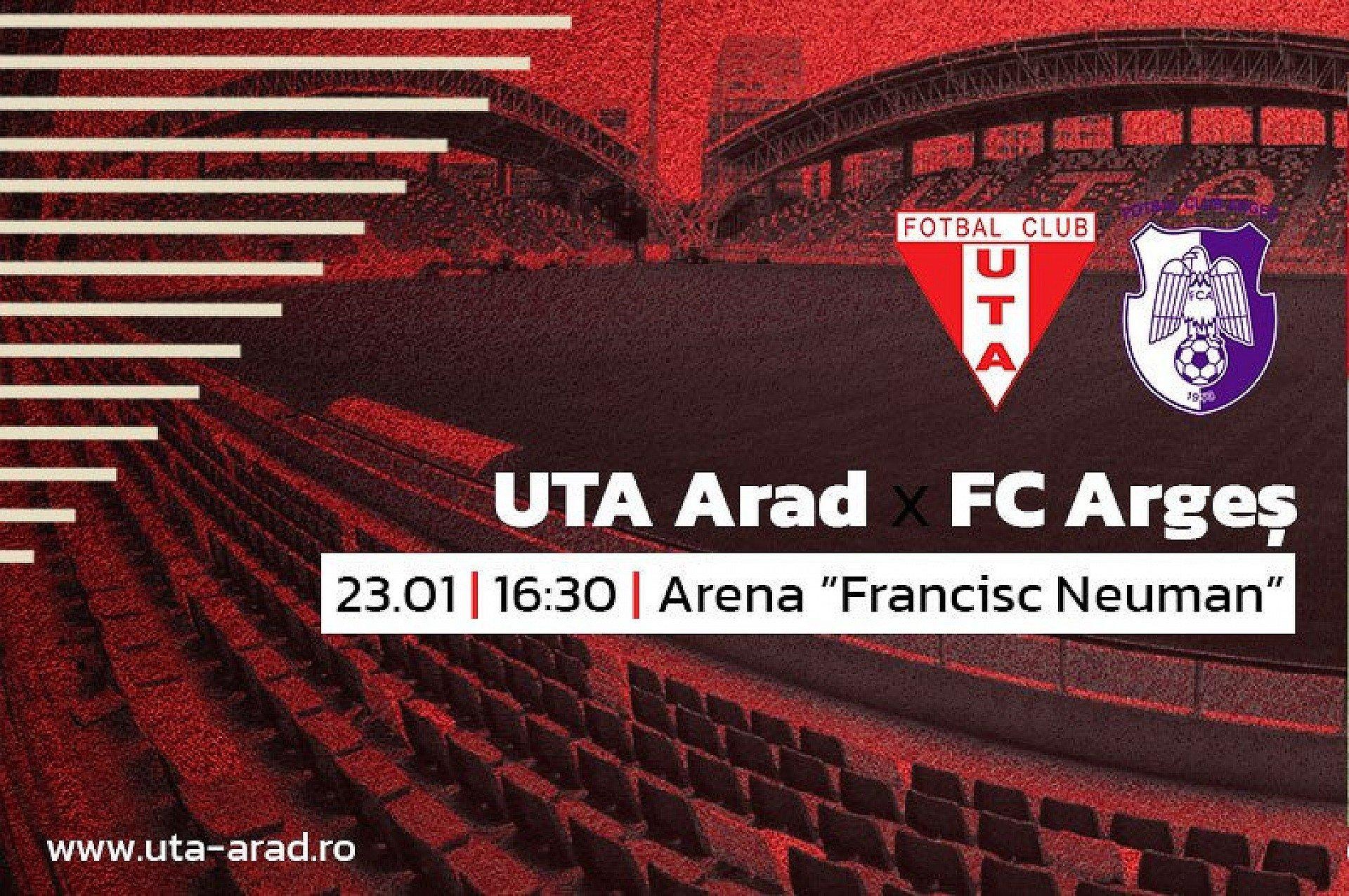 """Imagine Mâine, UTA – FC Argeș. """"UTA să fie UTA. Inclusiv acasă!"""""""