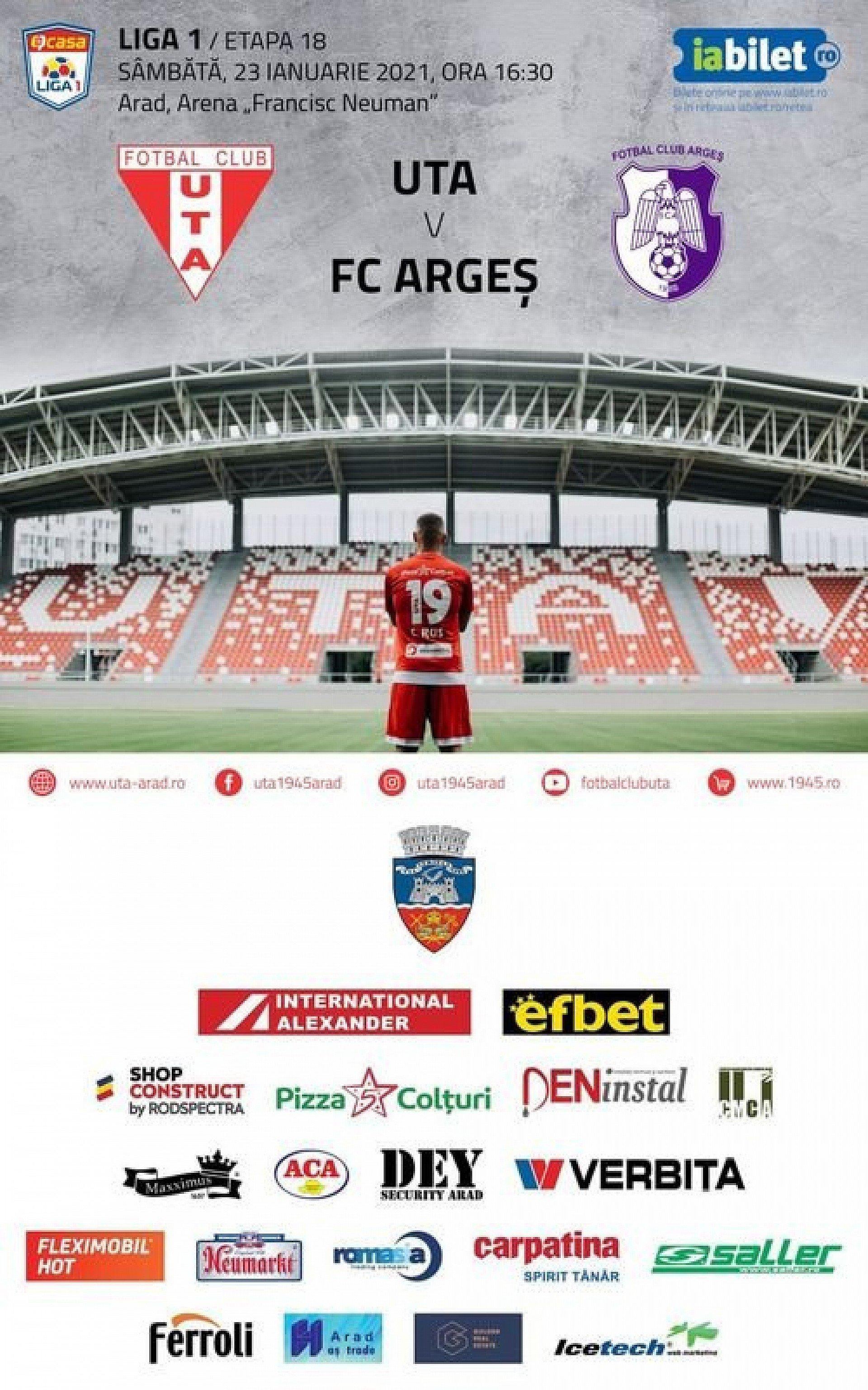 Imagine Bilete virtuale pentru meciul UTA - FC Argeș!