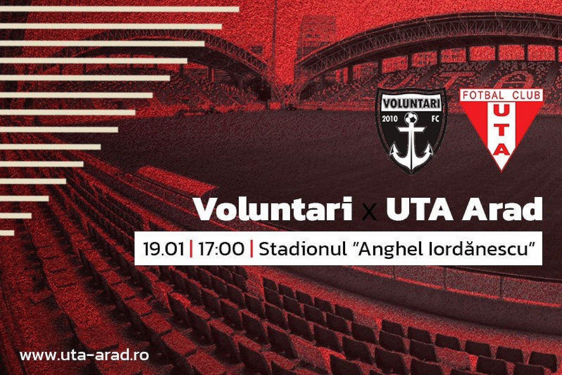 """Imagine Mâine, FC Voluntari – UTA: """"Puncte foarte importante"""""""