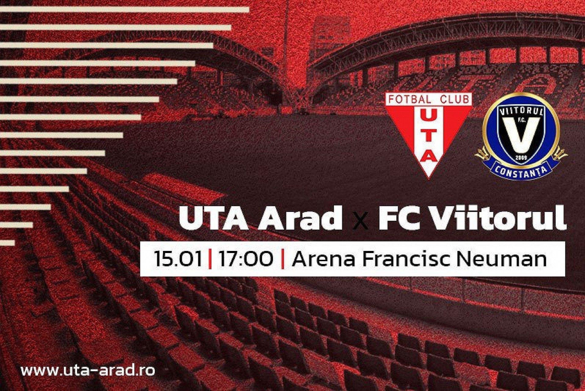 """Imagine Mâine, UTA – Viitorul Constanța: """"Așteptăm meciul cu mare încredere!"""""""