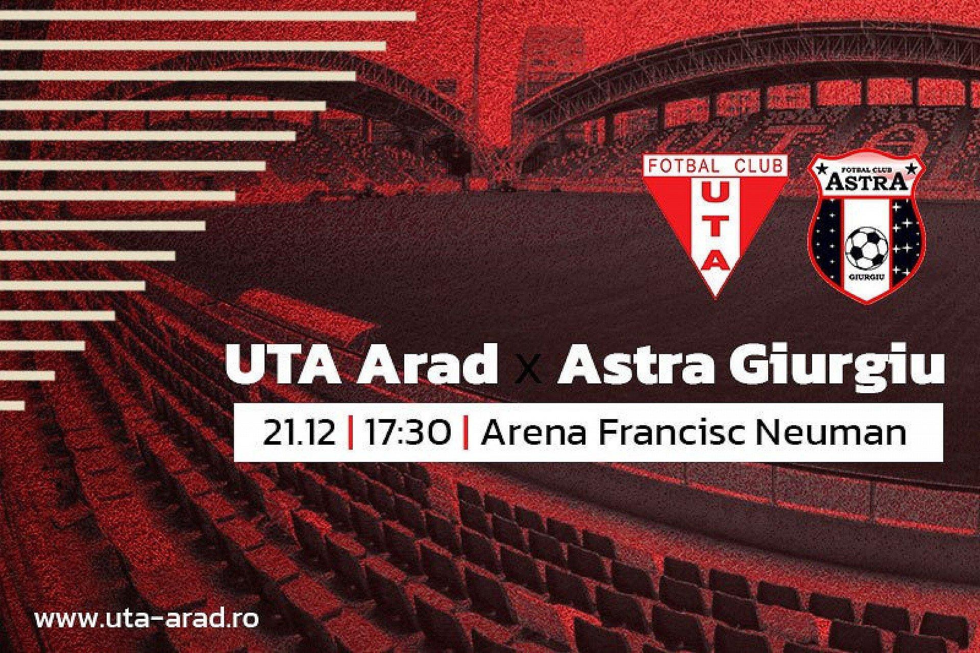 """Imagine Mâine, UTA – Astra Giurgiu: """"Aștept orgoliul jucătorilor"""""""