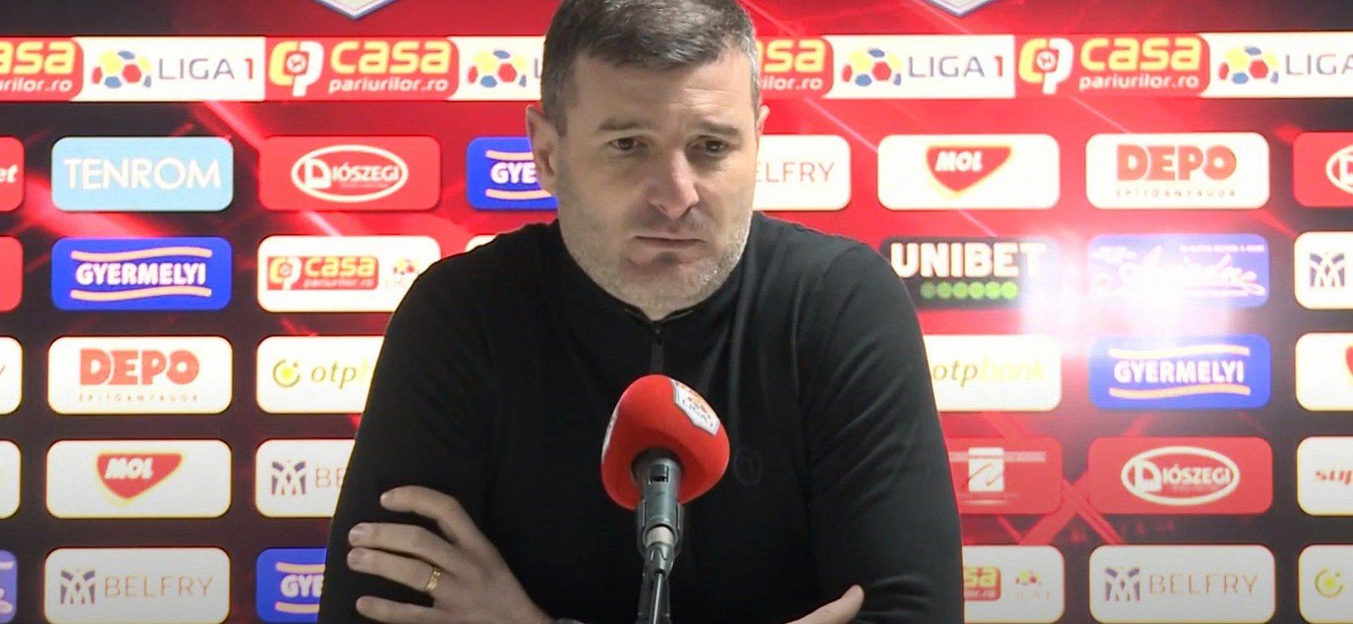 Imagine Reacția lui Laszlo Balint după Sepsi - UTA
