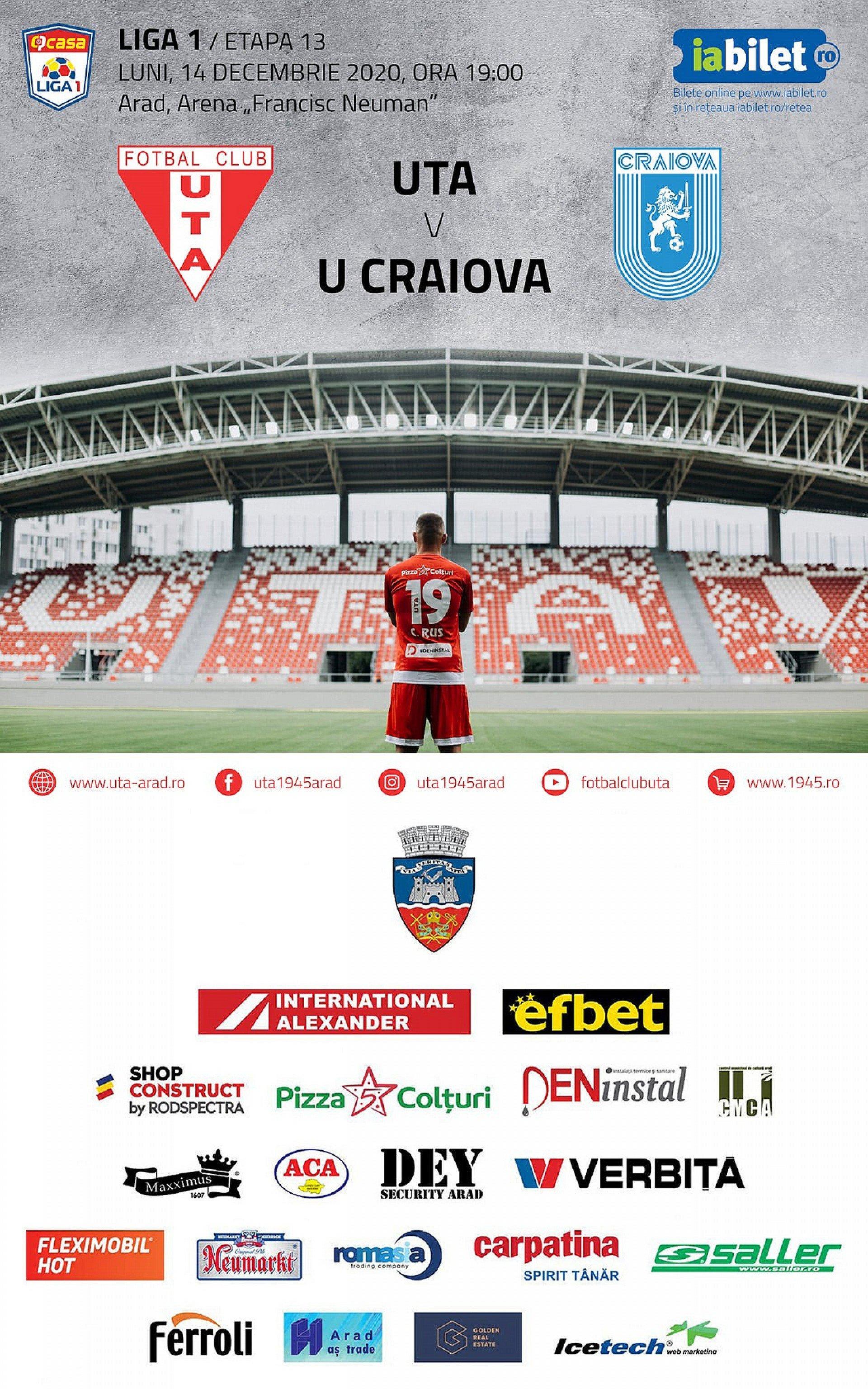 Imagine Bilete virtuale pentru meciul UTA - Universitatea Craiova