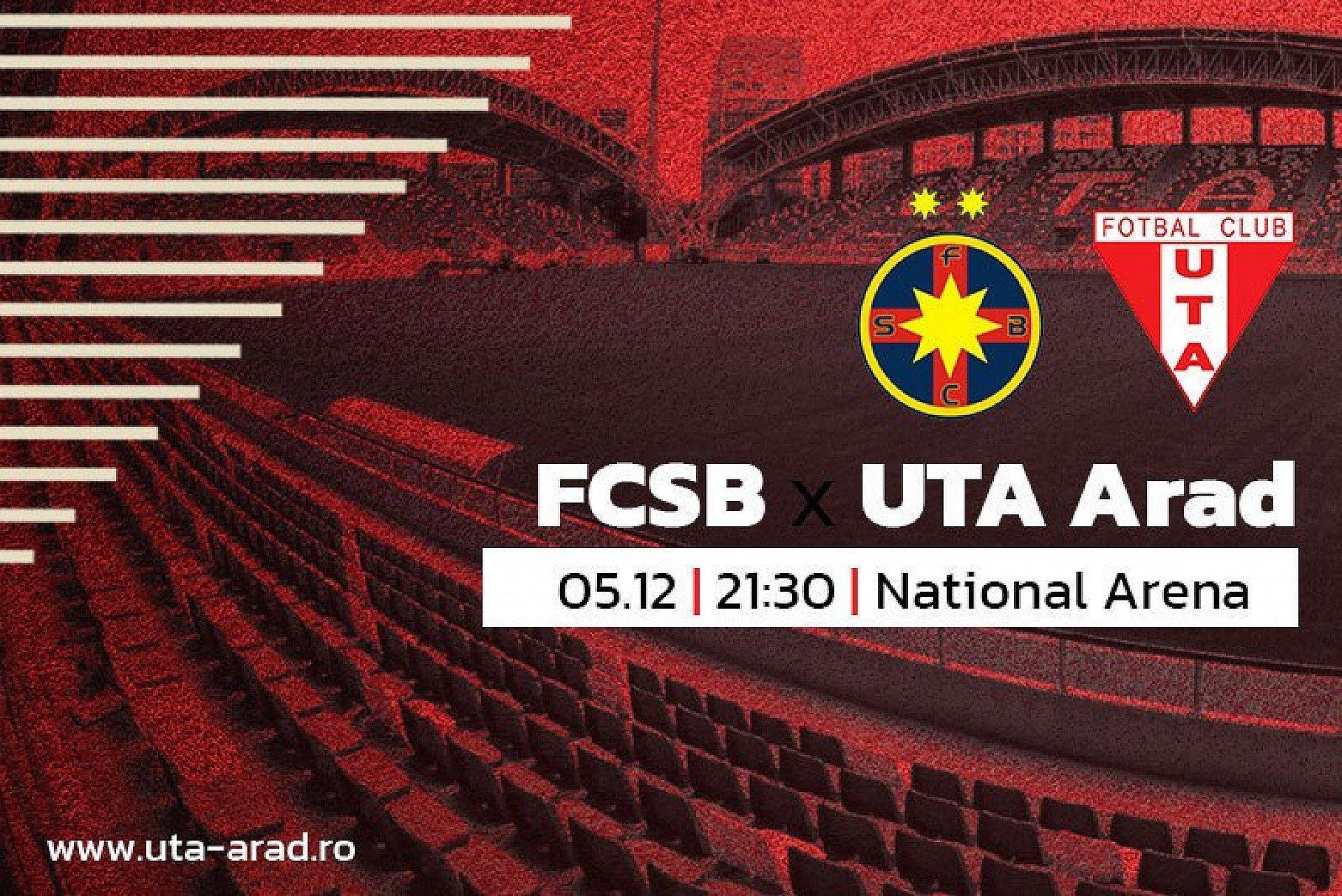 """Imagine Mâine, FCSB – UTA: """"Încrezători, motivați și determinați sută la sută"""""""